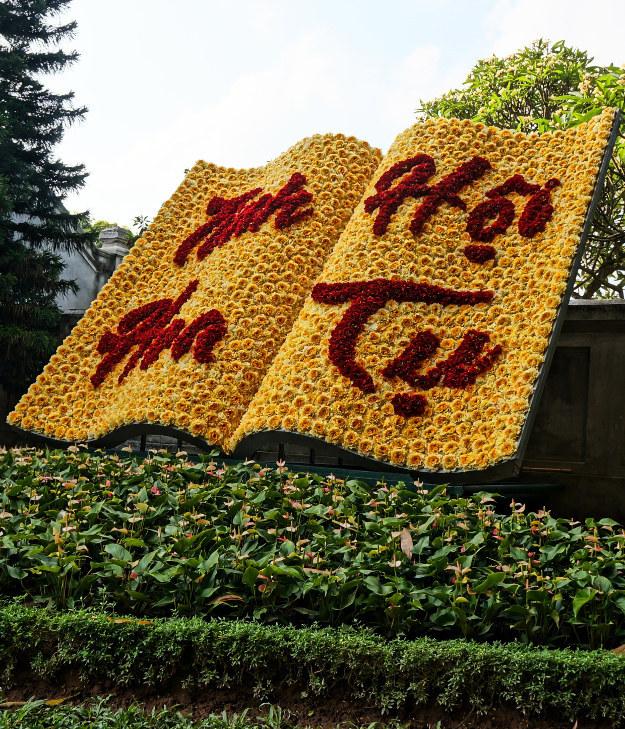 Boeksculptuur in Hanoi, Vietnam