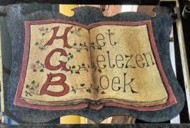 Uithangbord van boekhandel 'Het Gelezen Boek' in Deventer