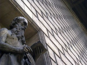 St. Hiëronymus. Beeld in de Madeleine, Parijs (Alix Loiseleur des Longchamps)