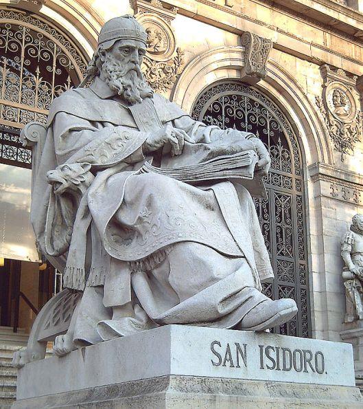 Beeld van de heilige Isidorus in Madrid, 1892 vervaardigd door José Alcoverro (Wikipedia)