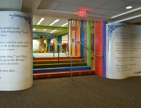 Interieur openbare bibliotheek Kansas