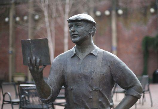 Ken Kesey (1935-2001). Amerikaans schrijver. Beeld in Eugene, Oregon, USA