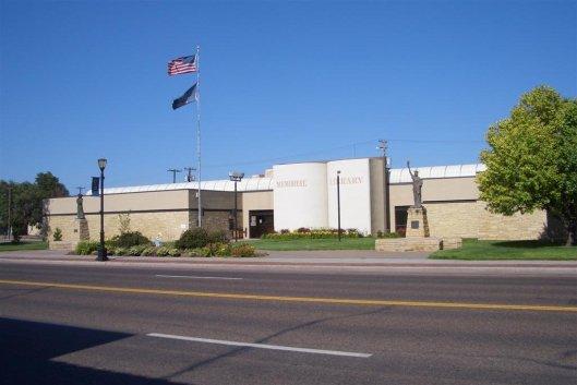Vooraanzicht van Liberal Memorial Library, USA