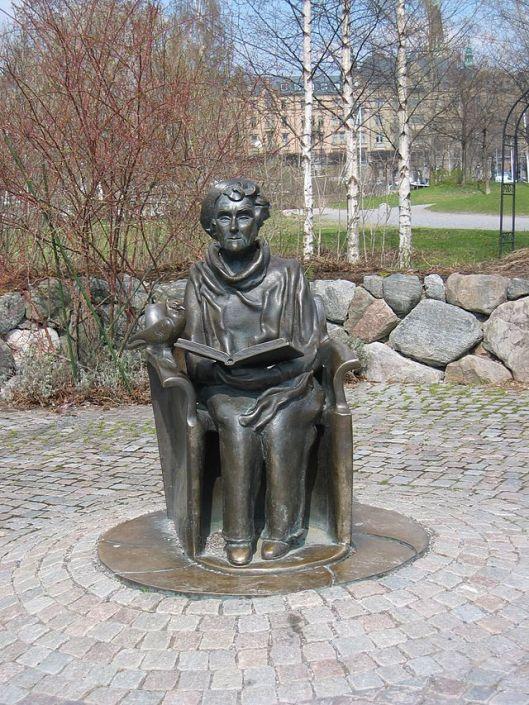Beeld van kinderboekenschrijfster Astrid Lindgren n(1907-2002), o.a. van Pippi Langkous in Stockholm