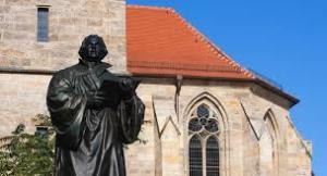 Luther standbeeld in Erfurt