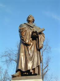 Luther monument in Clayton, Missouri, USA