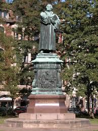 Luther beeld in Eisenach