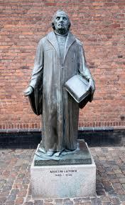 Luther beeld in Kopenhagen, Denemarken