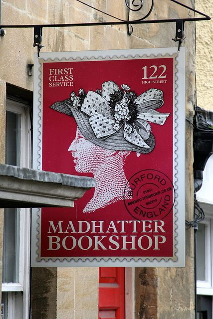 Madhatter Bookshop in Burford, Oxfordshire, Engeland