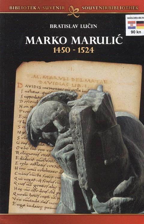 Deel van beeld Marko Marulic (1450-1524), een Kroatische dichter en humanist, in Split