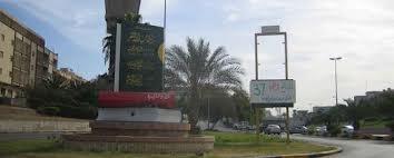 Monument voor het groene boekje van president Kkadaffi in Tripolis (A.Besold)