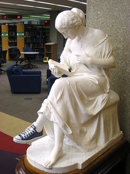 Oberlin College Library: reading woman by John Adams Jackson