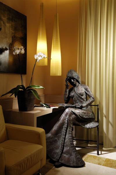 Beeld in Digiasante hotel, Bologna, Italië