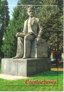 Standbeeld van de Poolse schrijver H.Sienkiewicz in Czestechowa