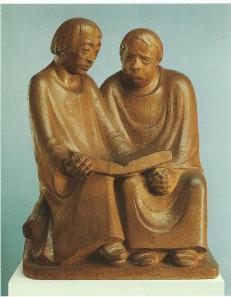 Ernst Barlach (1870-1938) Lesende Mönche, 1932. Nationalgalerie Berlin