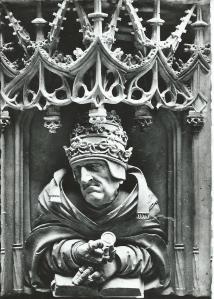 Stefansdom Wenen, Preekstoel. Paus Gregorius, omstreeks 1510