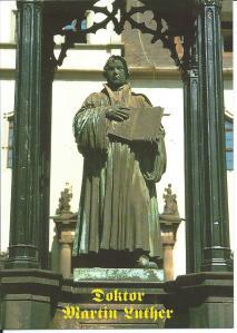 Beeld van Maarten Luther in Wittenberg