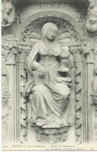 Kathedraal van Rouen, H.Maria, detail van monument