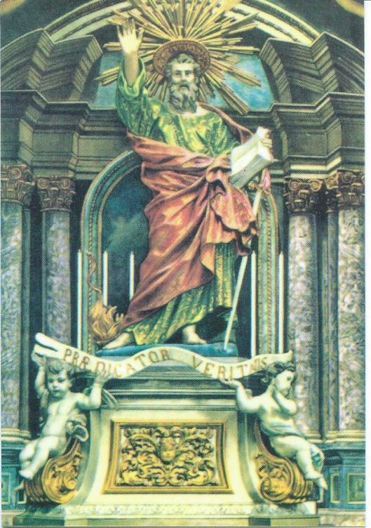 Kerk van St. Paulus schipbreuk in Malta. Beeld van de H.Paulus door Melchiorre Gafa (1635-1667)