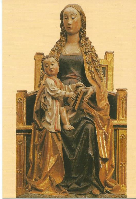 Fromista (Palencia). Sculptuur uit omstreeks 1500.  Museo Parroquial de S.Pedro, Spanje.