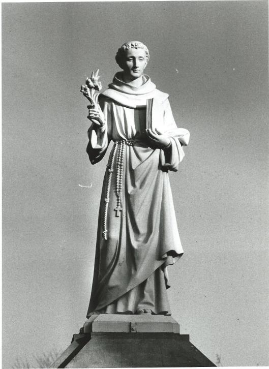 Heiligenbeeld uit Tilburg (vermoedelijk St.Antonius of St.Franciscus)