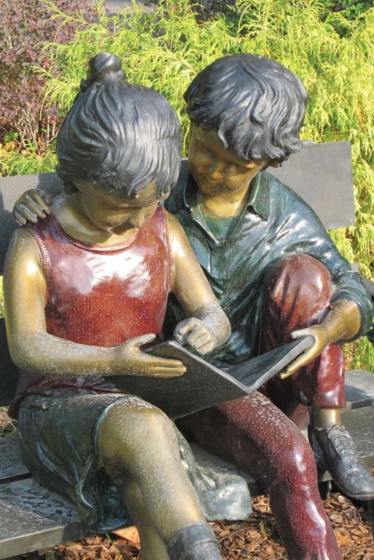Sculptuur in Huntsville- Madison County Library, USA