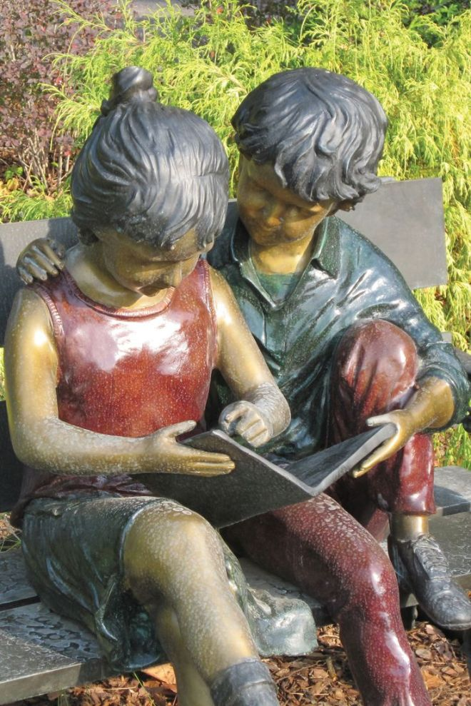 Sculptuur in Huntsville- Madison County Library, USA