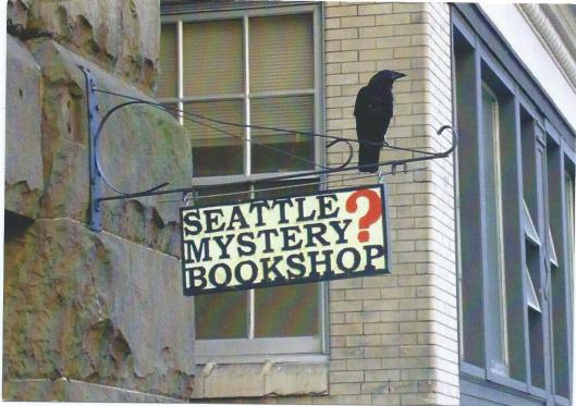Uithangbord Seattle Mystery Bookshop