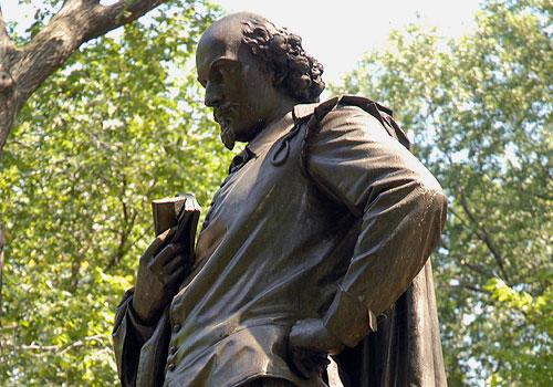Beeld van Shakespeare in Stratford