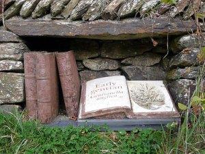 Boeken in steen