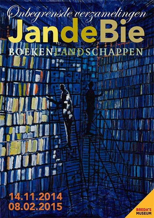 Boekenlandschap door Jan de Bie, expositie tot 8-2-2015 in Breda's Museum (zie site Boekendingen).