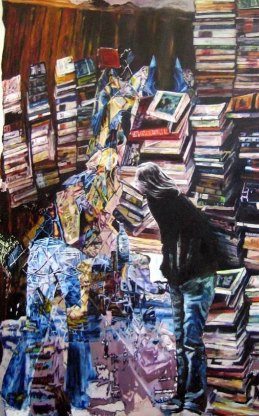 Schilderij, getiteld 'Carl Spitzweg', 2008, door Jan Mövius (geb. 1976)