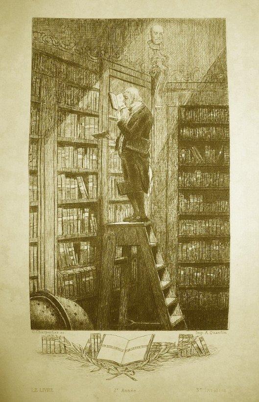 Ets naar Spitzweg door G.Charpentier 'un bibliophile conservateur'.