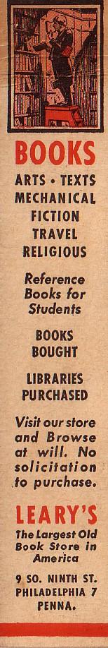 Leary's boekenlegger, circa 1920