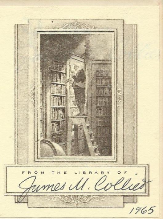 Uit de bibliotheek van James M.Collier, in 1998 overleden romanschrijver