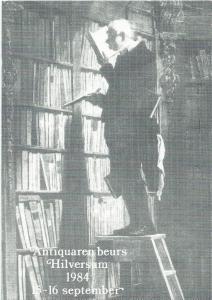 Reclamekaart Antiquarenbeurs Hilversum 1984 15-16 september