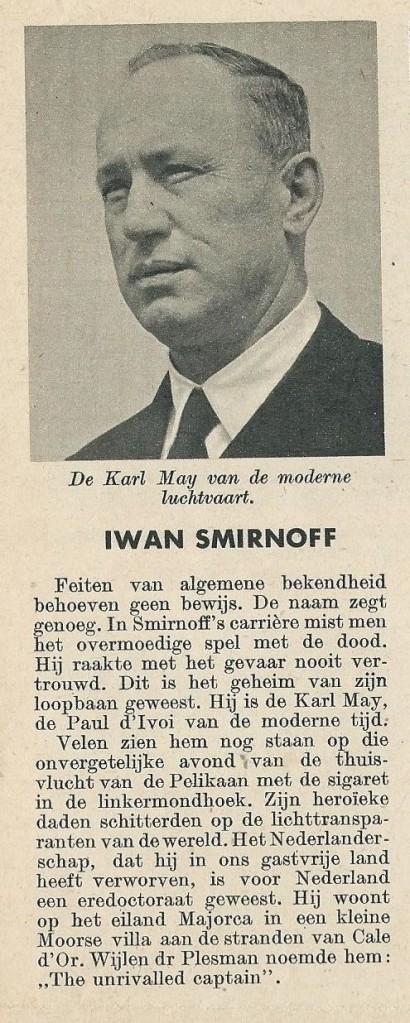 Beknopte biografie van Iwan Smirnoff, de Karl May van de moderne luchtvaart genoemd