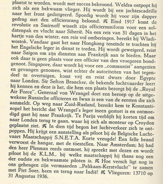 Vervolg Smirnoff. Uit: Nederlandse Luchtvaarders, 1938