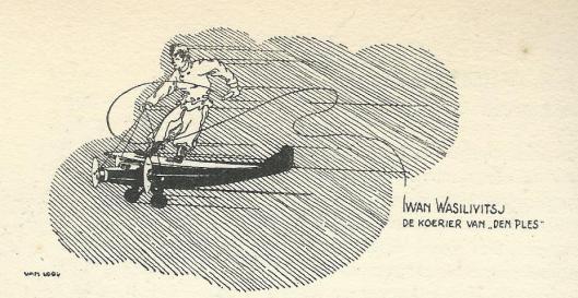 Cartoon Smirnoff. Uit: Nederlandse Luchtvaarders.