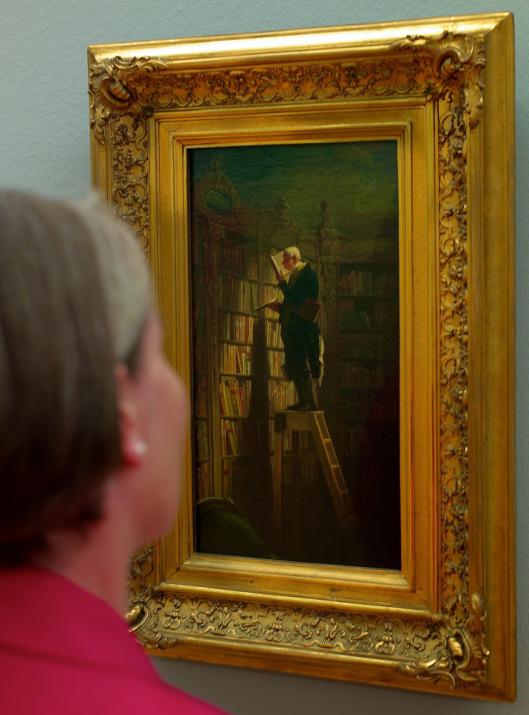 'Der Bücherwurm' in museum Georg Schäfer, Schweinfurt (foto Galerie P.J.Scherer)