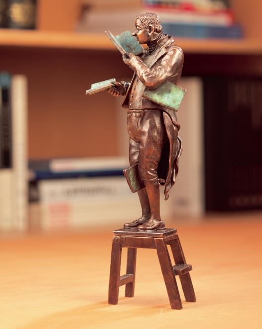 Sculptuur naar Carl Spitzweg