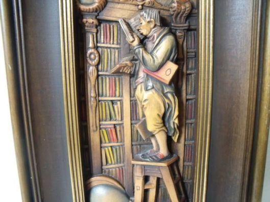 DE boekenworm, van Spiztweg. Houtsnijweek van ANRI, Italië