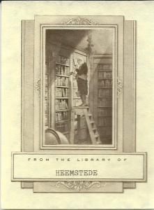 Ex libris met afbeelding van 'Der Bücherwurm'