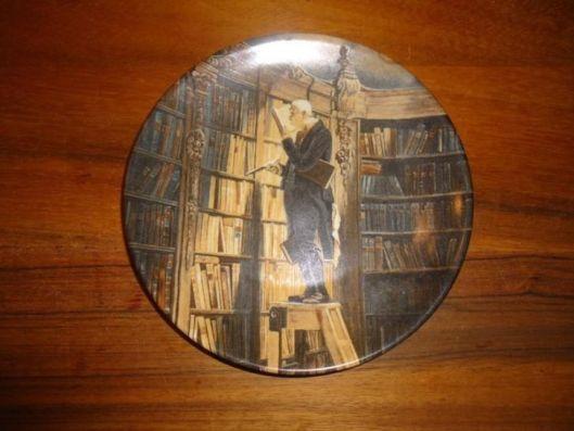 Wandbord met voorstelling van 'der Bücherwurm'