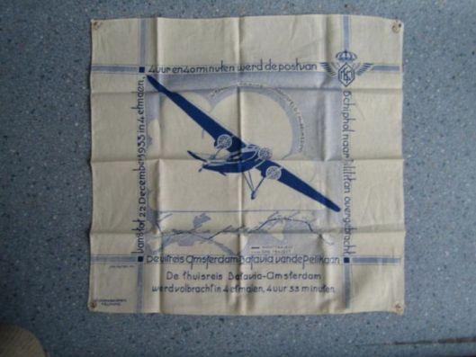 Doek met print Pelikaan-postvlucht 1933