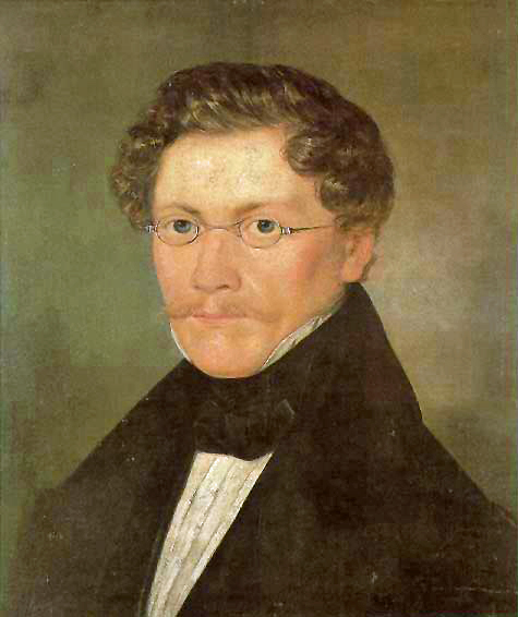 Zelfportret van Carl Spitzweg uit 1840