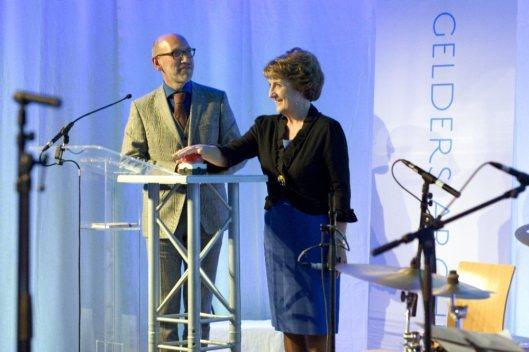 Opening van het nieuwe Gelders Archief in Arnhem op 22 september 2014 door prinses Margriet