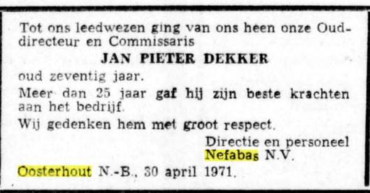 Adv. De Telegraaf, 3 mei 1971
