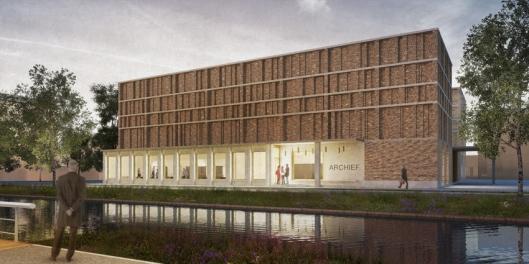 Ontwerp voor nieuw archiefgebouw in Delft
