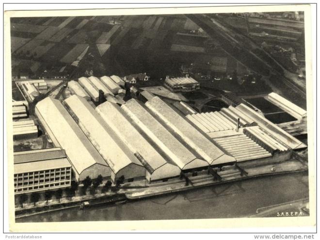 Ansichtkaart van de Eternitfabriek in Kapelle op den Bos, België